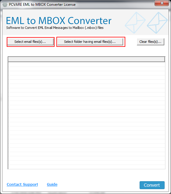 Transfer EML to MBOX 7.3