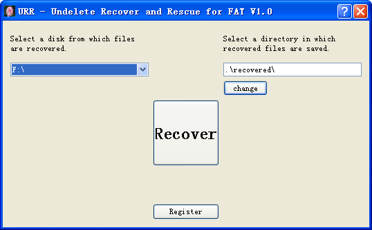 Undelete Recover and Rescue for FAT 1.0