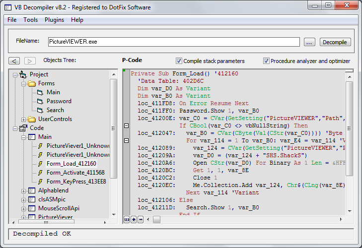 VB Decompiler 9.0