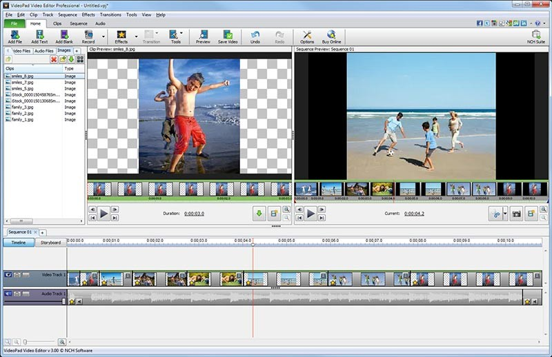 VideoPad Free Video Editing Software 3.55
