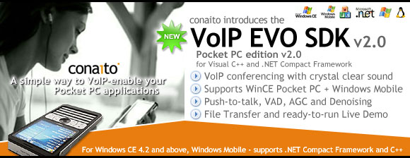 VoIP EVO SDK for Pocket PC and Windows Mobile 2.0
