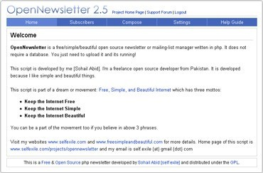 Webuzo for OpenNewsletter 2.5.1