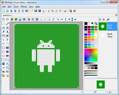 Windows 8 Icon Editor 5.31