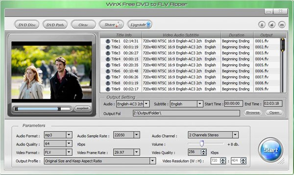 WinX Free DVD to FLV Ripper 7.0.7