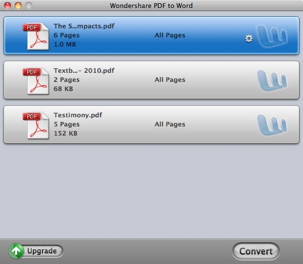 Wondershare PDF to Word for Mac 1.2.0
