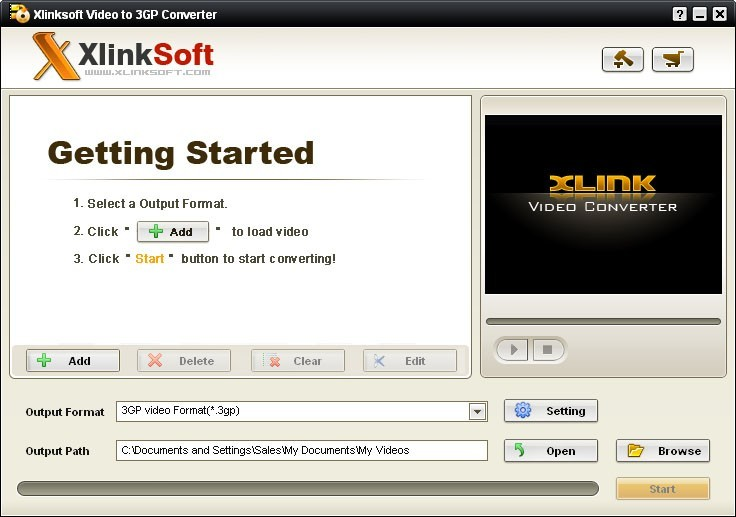 Xlinksoft Video to 3GP Converter 2011.10.10