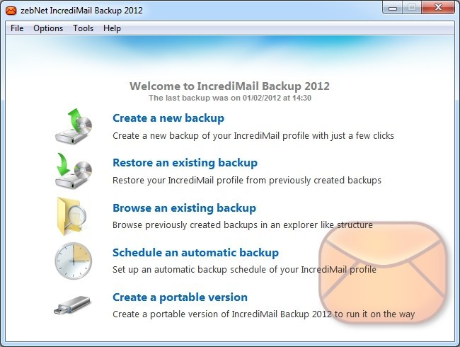 zebNet IncrediMail Backup 2012 3.4.15